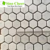 지면 도와를 위한 건축재료 혼합 색깔 6각형 자연적인 돌 대리석 모자이크