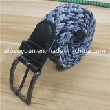 曲がったPinのバックルPloyesterは編みこみの伸縮性があるベルトを束ねる
