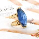 Mode bijoux Big Blue verre artificiel Gems Bagues de fiançailles