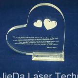 Machine de gravure de laser de machine de découpage avec la tête deux