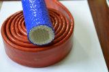 De Silicone Met een laag bedekte Koker van de Brand van de Glasvezel/Brand op hoge temperatuur Sleeving