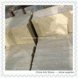 Laje de mármore do branco chinês e do bege para telhas de assoalho