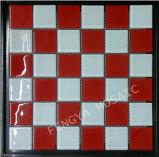 Cristal Vermelho, Omament Backgroud Mosaico Mosaico de ladrilhos, mosaicos de vidro