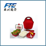 Hot Neoprene Handle Lunch Tin Box Embalagem