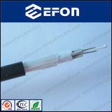 Cable óptico acorazado de fibra del hilado de cristal de arriba del cable (GYFTY-FS)
