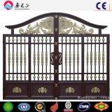 Porta de cerca de aço inoxidável de ferro forjado barato personalizado para venda
