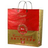 高品質は印刷した衣服(FLC-8108)のためのクリップハンドルのショッピング・バッグを