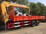 LHD Dongfeng 6*4 10の車輪の高品質はクレーントラックによってトラック12トンの取付けた