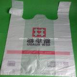 Weiße Farbe transparenter HDPE Verpackungs-Beutel für das Einkaufen