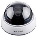 Un appareil-photo rouge de moquerie de détecteur de DEL PIR avec le voyant d'alarme pour le butoir de sûreté de nuit actionné par 3AA
