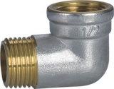 Coude de rue fileté par laiton de qualité avec le cuivre exposé (YD-6032)