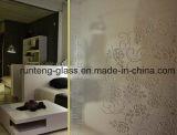 4-19mmのシルクスクリーンプリントかフロスティングまたは酸の腐食パターンおよび明確な安全ガラス