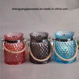 de kleurrijke Draagbare Kruik van de Kaars van het Glas