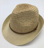 Borde de la trenza de papel de la corona del sombrero de paja de la rafia (Sh044)
