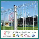 PVC покрыл сваренную панель проволочной изгороди металла загородки ячеистой сети сваренную садом