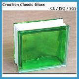 Colore verde Blcok di vetro per la parete