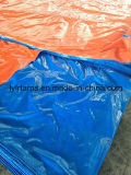 Feuille bleue/orange de tente de bâche de protection de PE, de bâche de protection