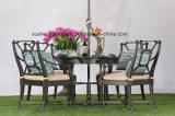 Klassische Patio-Gussaluminium-im Freien runder Tisch-Möbel