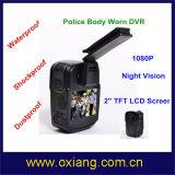 1080P polizia DVR una polizia grandangolare DVR portato corpo da 120 gradi con visione notturna