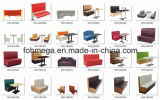 China Wholesale Leather Cafe Booth com mesa