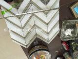Mosaico de mármol de Calacatta, mosaico Herringbone de la dimensión de una variable, azulejo de mosaico Herringbone