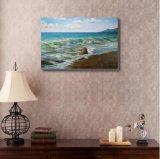 海の波の油絵の再生