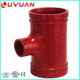 Homologação de FM / UL Ductile Iron Grooved Reducer Tee para Pipe Joning
