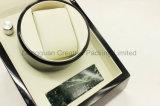 Bobinier en bois simple noir de luxe de montre avec la pierre de marbre