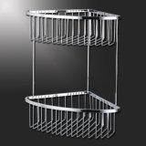 Toalha de banho bares duplo cromado de acessórios de banho de metal Rack (SUS304)