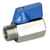 Vanne à bille miniature M / F à fil en acier inoxydable