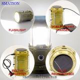 Solar110v 220V USB-nachladbare Fische UVpfeiler LED helle kampierende Solartaschenlampe der fackel-LED