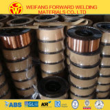 Er70s-6/Sg2ミグ溶接ワイヤー保護される二酸化炭素のガスが付いている銅によって塗られる溶接ワイヤ