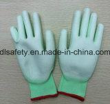Отрезанная зеленым цветом упорная перчатка работы (PD8015G)