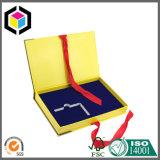 Rectángulo de regalo de papel rígido de la impresión del cierre a todo color de la cinta