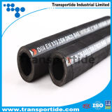 Draad van het staal vlechtte Versterkte Rubber Behandelde Hydraulische Hose/SAE100 R2-1/4 ''