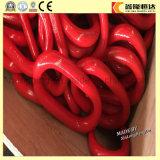 Звено цепи мастерского соединения стали углерода вковки красное покрашенное