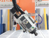 4 macchina per incidere di CNC di prezzi, di Atc del router 2050 di CNC di asse, con l'asse di rotazione di raffreddamento ad aria dello strumento di Caousel e di 9kw Hsd