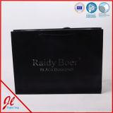 Sacchi di carta di lusso neri dell'elemento portante di acquisto con la maniglia Twisted dorata
