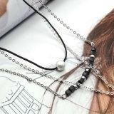 Падения воды Имитировать-Перлы цепи соединения веревочки ожерелье чокеровщика кристаллический привесное
