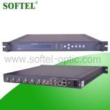 6 tuner +2 Asi aan IP de Multiplextelegraaf van de Input