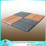 Водоустойчивые плитки пола WPC WPC DIY блокируя палубу пластичного основания
