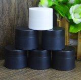 30g 50g Black Color Round en forme de pot de crème plastique décoratif
