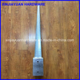 Остроконечный выкованный гальванизированный стальной анкер столба с зазором (71X71X750mm)