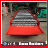Gewölbte farbige Dach-Stahlfliese-Rolle, die Maschine für Typen 1000 bildet