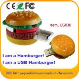 3D привод вспышки USB гамбургера PVC 8GB миниый для цены по прейскуранту завода-изготовителя/высокого качества