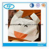 LDPE drukte de Biologisch afbreekbare Plastic Zakken van de T-shirt voor het Winkelen af