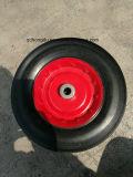 festes Gummirad der roten Felgen-10 '' x2.5