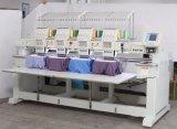 Máquinas de bordar computadorizadas com quatro cabeças automáticas completas para vestuário / bordado de chapéu