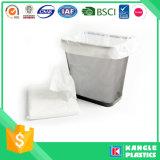 Limpar plástico saco de lixo Garbaeg branco