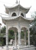 Gazebo en pierre traditionnelle traditionnelle chinoise